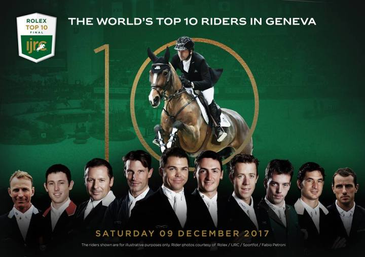 The list of riders competing in the Rolex IJRC TOP 10 final